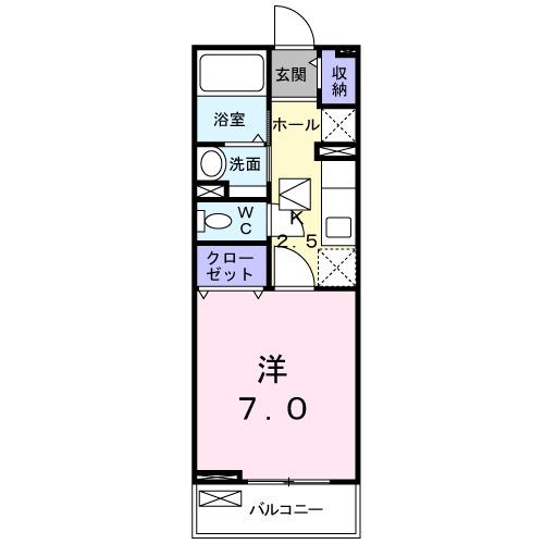 サンリットハウス Ⅱ・01040号室の間取り