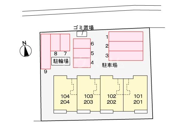 アルモニー三木 02040号室の駐車場