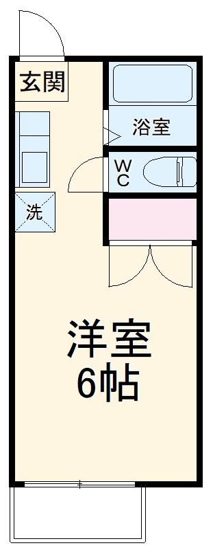 妻田サンハイツ 102号室の間取り