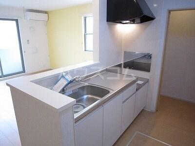 ラディエンスB 01010号室のキッチン