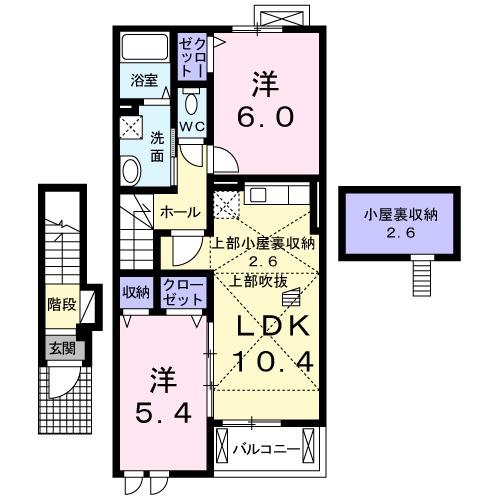 MK HOUSE・Ⅱ 02020号室の間取り
