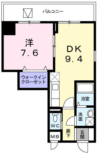 アクシオン音羽・07020号室の間取り