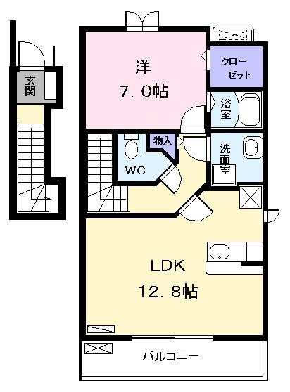 灯 Ⅱ (アカリ 02010号室の間取り