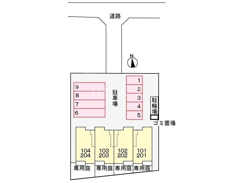 レオルガⅢ 02020号室の駐車場