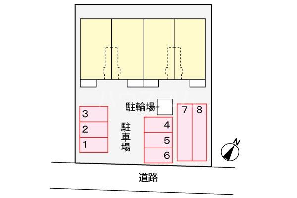ルペーシェ 01040号室の駐車場