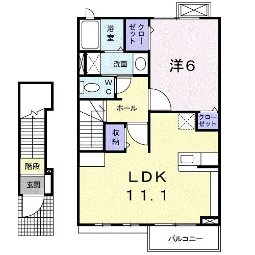 ルミエールⅢ・02030号室の間取り