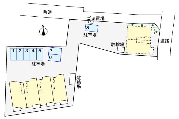 アルコバレーニⅡ 01040号室の駐車場