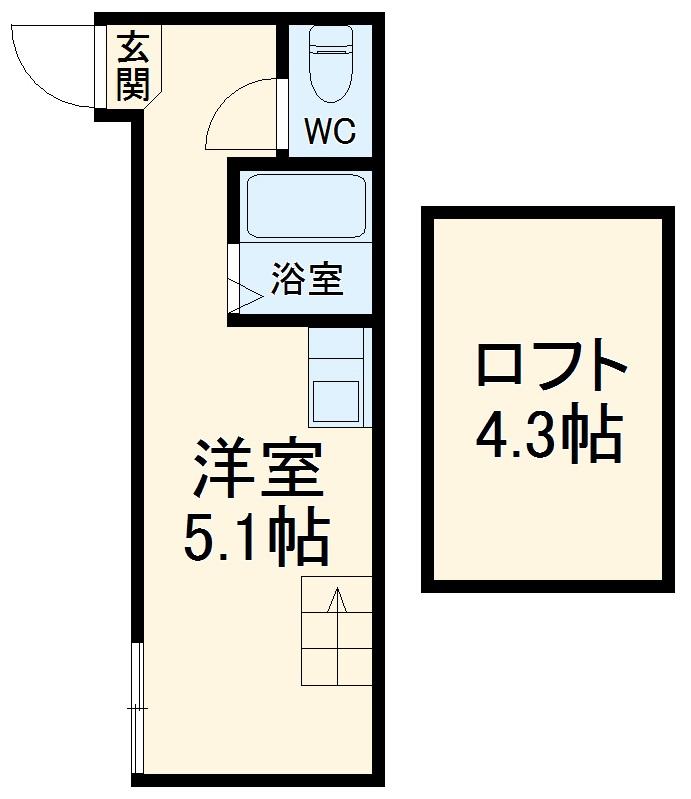 インベスト川崎6・206号室の間取り