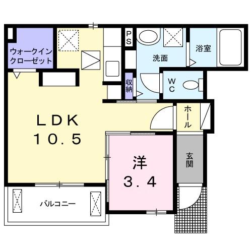 Kotobuki・01030号室の間取り