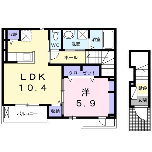 Kotobuki・02030号室の間取り