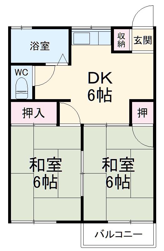 第2太田コーポ・102号室の間取り