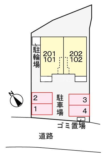 ヴァルミー 02010号室の駐車場