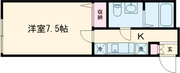 GRAZIA鎌倉・304号室の間取り