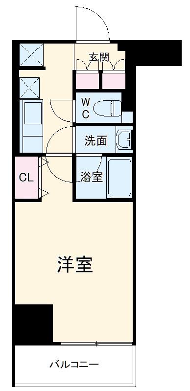 ジェノヴィア新横浜スカイガーデン・203号室の間取り