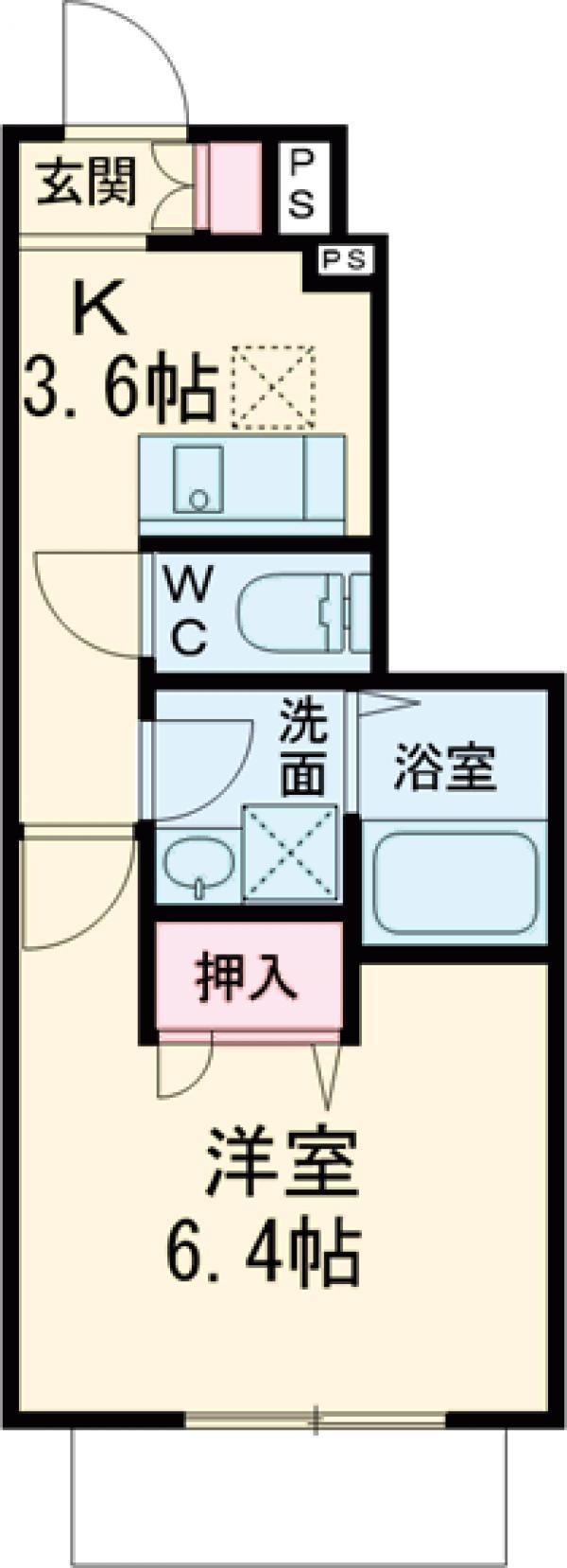 (仮称)調布市若葉町3丁目計画A棟・101号室の間取り