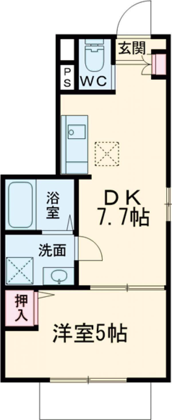 (仮称)調布市若葉町3丁目計画A棟・102号室の間取り