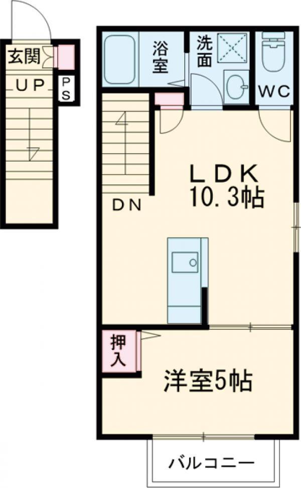 (仮称)調布市若葉町3丁目計画A棟・202号室の間取り