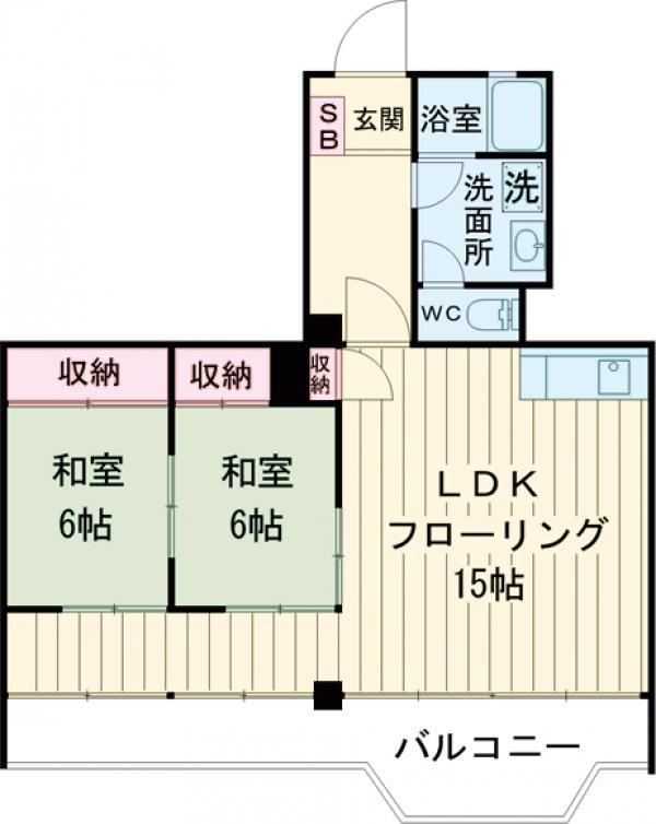 クレイン駒沢・202号室の間取り