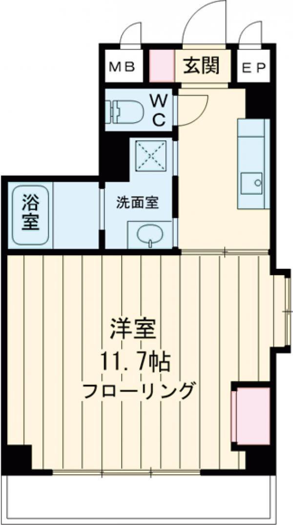 新幸倉ビルⅡ・301号室の間取り