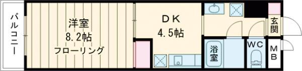 新幸倉ビルⅡ・205号室の間取り
