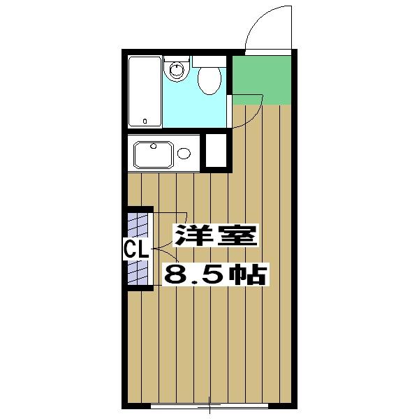 嵯峨スチューデントハウス・208号室の間取り