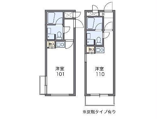 グランフェリオ小田原・207号室の間取り