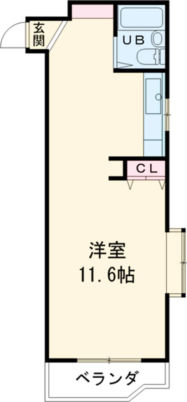 アップル第1マンション 308号室の間取り