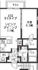 quador高円寺(仮称)・102号室の間取り