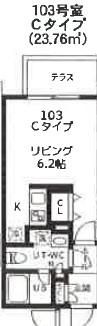 quador高円寺(仮称)・103号室の間取り