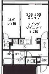 quador高円寺(仮称)・203号室の間取り