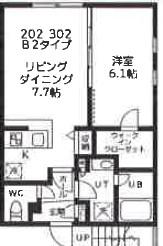 quador高円寺(仮称)・302号室の間取り