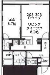 quador高円寺(仮称)・303号室の間取り