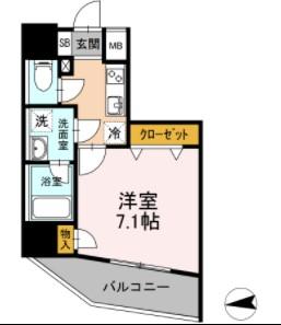 Aoiレジデンス早稲田・1101号室の間取り