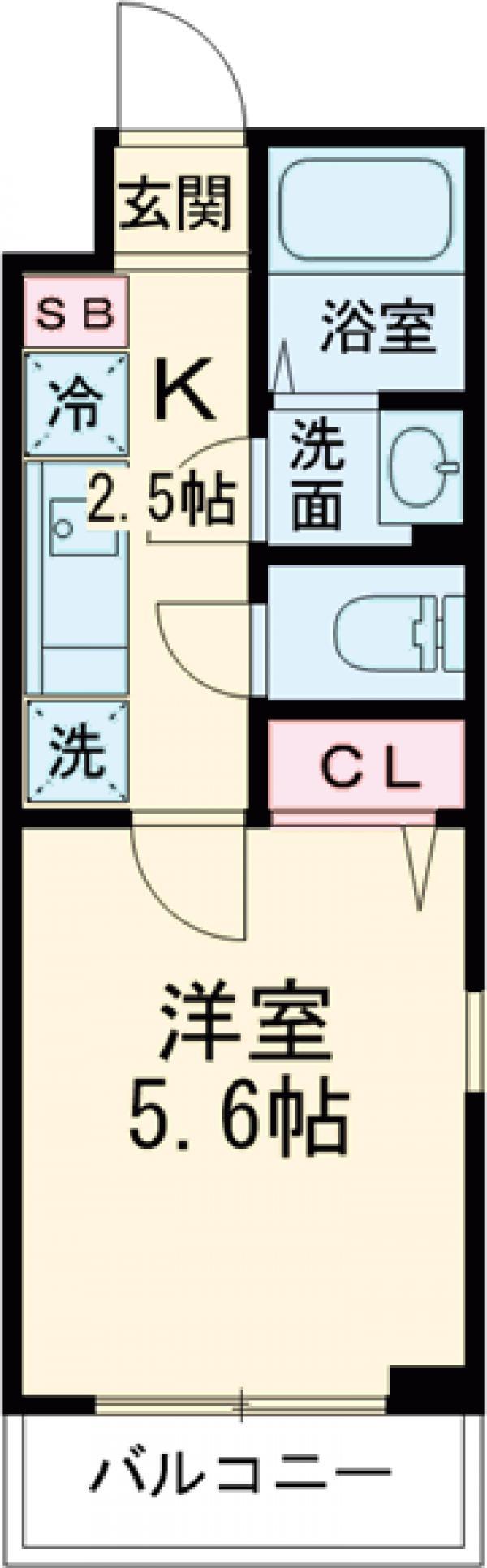 Centro Aoto・302号室の間取り