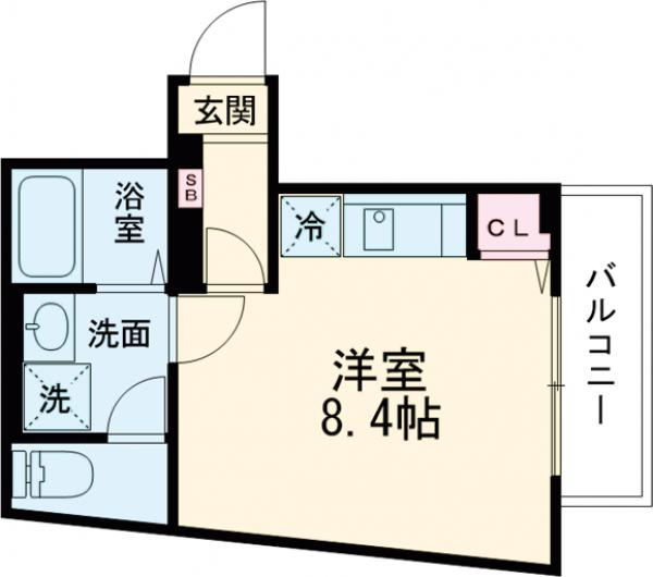 Centro Aoto・303号室の間取り