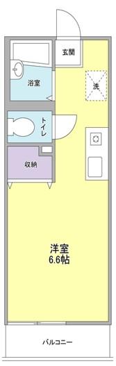 プリムローズ小田桐・202号室の間取り