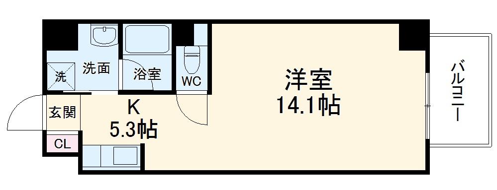 TS Residence Nagoya・202号室の間取り