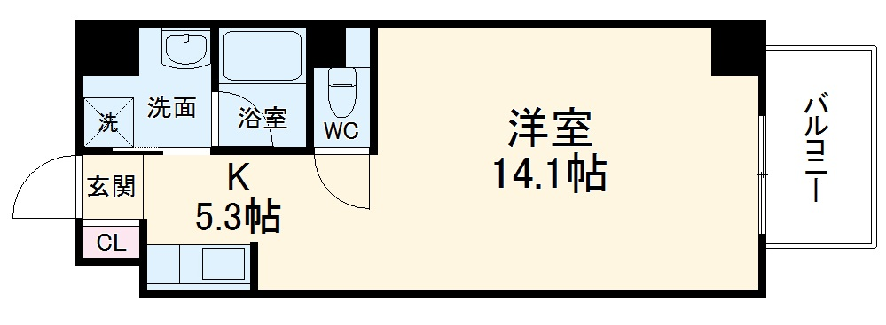 TS Residence Nagoya・402号室の間取り