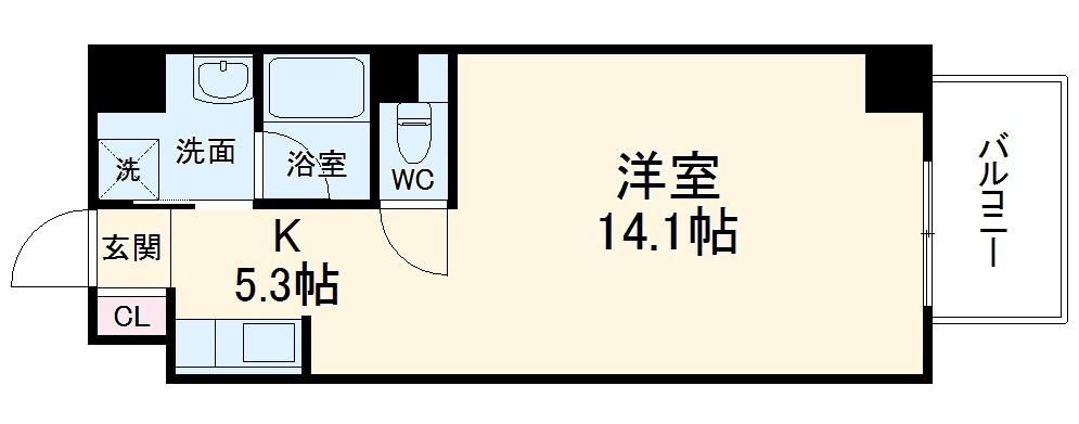 TS Residence Nagoya・602号室の間取り