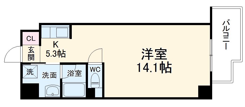 TS Residence Nagoya・203号室の間取り