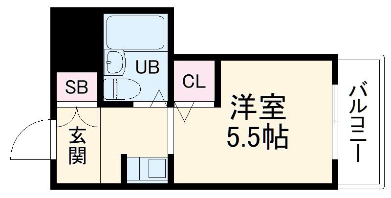 オウルハウス 303号室の間取り