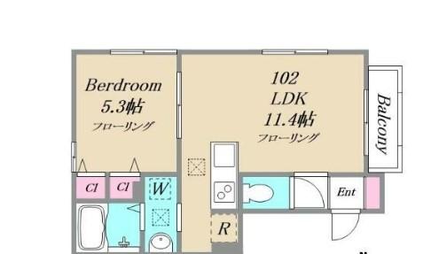 CRESCENTEⅡ・102号室の間取り