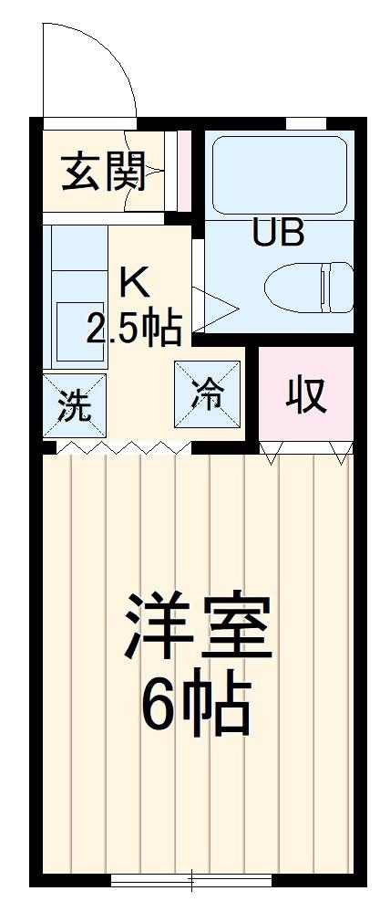 ヨシカワコーポラス 205号室の間取り