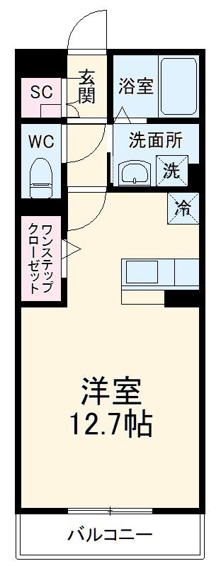 Chez Moi・206号室の間取り