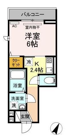 Chou Chou 206号室の間取り