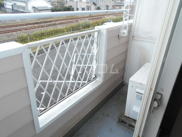 池田ハイツA 101号室のバルコニー