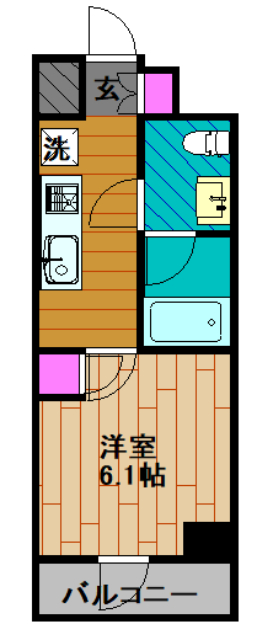 GENOVIA綾瀬skygarden・1403号室の間取り