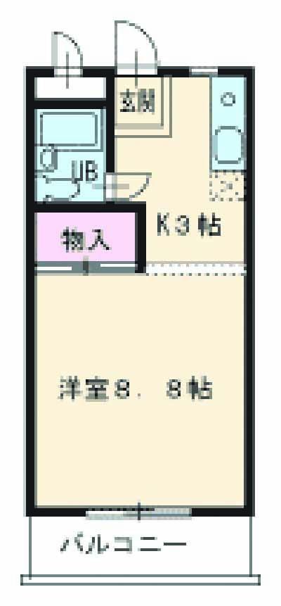 エポック喜多山・203号室の間取り