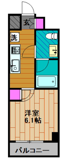 GENOVIA綾瀬skygarden・305号室の間取り