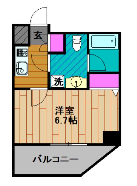 GENOVIA綾瀬skygarden・801号室の間取り